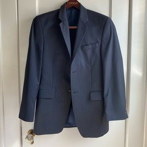 COPY - Mens 36 R Navy Blue PinStripe Calvin Klein…